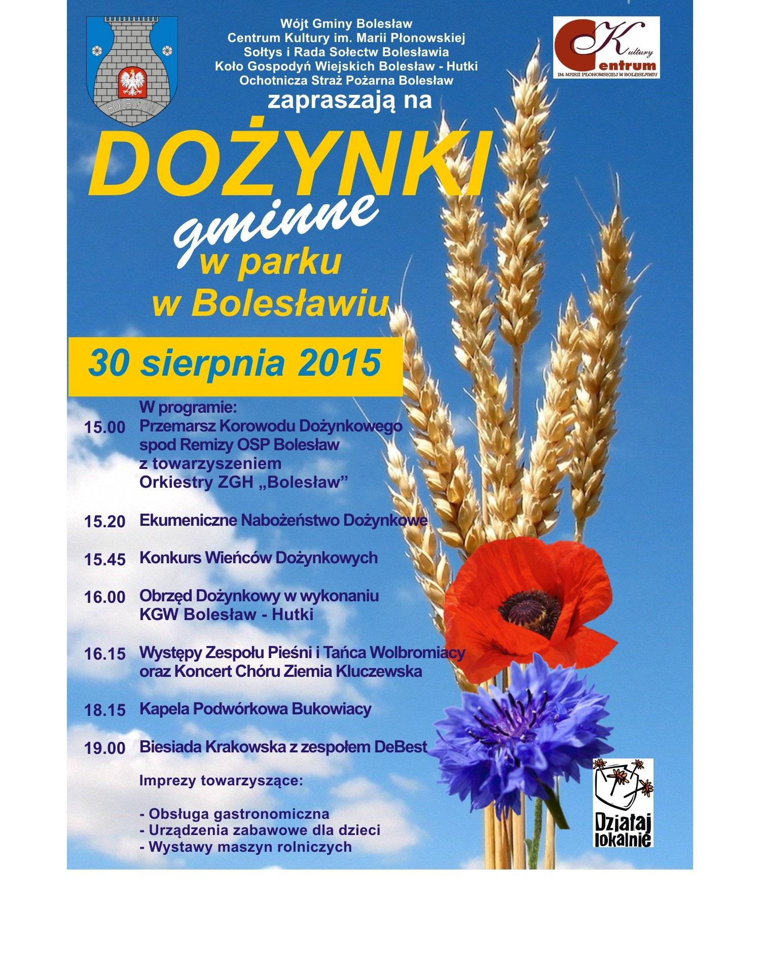 Więcej o: Bolesław – Dożynki Gminne 2015