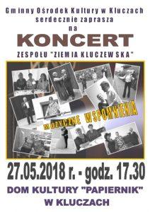 """Koncert Zespołu """"Ziemia Kluczewska"""" – Muzyczne Wspomnienia."""