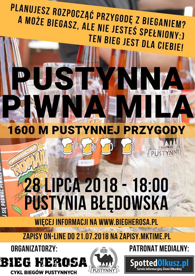 Pustynia Błędowska – Bieg Herosa – 22 lipca 2018