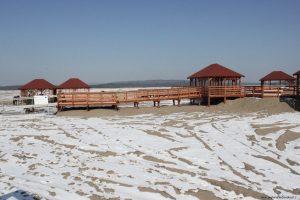Pustynia podczas zimy