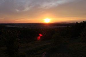 Pustynia Błędowska zachód słońca