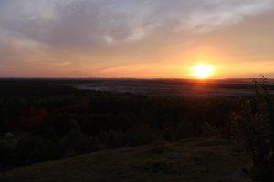 Czubatka Zachód słońca