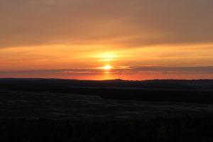 Zachód słońca na tle pustyni